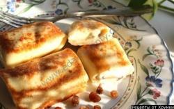 Блинчики с творогом рецепт приготовления с фото