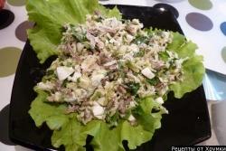 Кулинарный рецепт Салат из редьки с мясом с фото