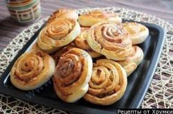 Кулинарный рецепт Завиванцы, булочки с корицей с фото