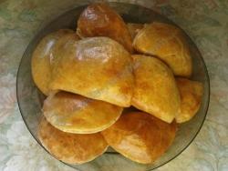 Кулинарный рецепт Рассыпчатые пирожки к бульону с фото