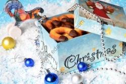 Кулинарный рецепт Новогоднее печенье Подковки с фото