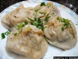 Кулинарный рецепт Манты с рыбой и рисом с фото