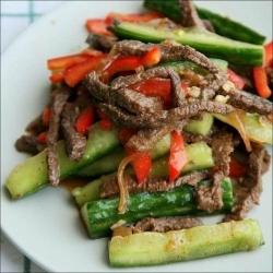 Кулинарный рецепт Огурцы с мясом по-корейски с фото