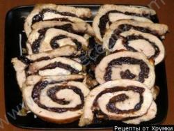 Мясной рулет с черносливом рецепт с фото