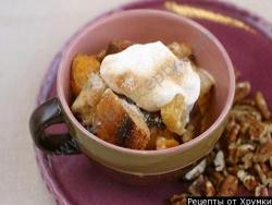 Кулинарный рецепт Зимний пудинг с сушеными грушами с фото