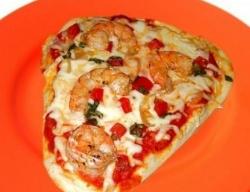 Кулинарный рецепт Пицца на кефире с креветками с фото