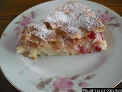 Кулинарный рецепт Шарлотка с яблоками на кефире с фото