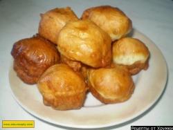 Домашние пончики на кефире с медом батумские