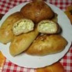 Кулинарный рецепт Пирожки с рисом и яйцом с фото