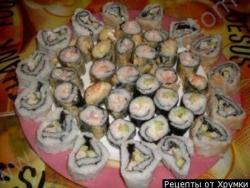 Кулинарный рецепт Горячие роллы с фото