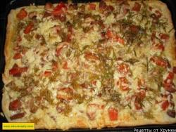 Пицца с варёной колбасой