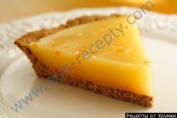 Кулинарный рецепт Лимонный пирог с апельсином с фото