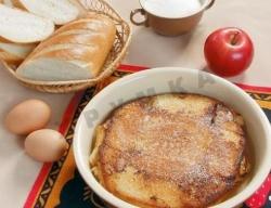 Кулинарный рецепт Запеканка из чёрного хлеба с фото