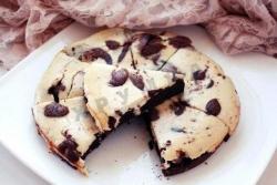 Кулинарный рецепт Шоколадно-банановый брауни-чизкейк с фото