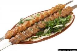 Кулинарный рецепт Люля кебаб из баранины с фото