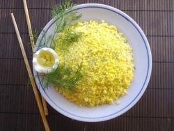 Кулинарный рецепт Салат морская капуста яйцо с фото