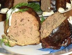 Кулинарный рецепт Суфле из печени с фото
