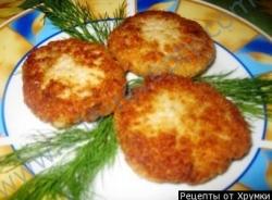 Кулинарный рецепт Блюдо из судака - биточки рыбные с фото