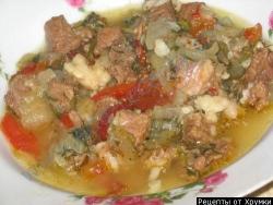 Кулинарный рецепт Хашлама из баранины с фото