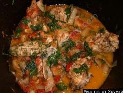 Кулинарный рецепт Чахохбили из баранины с фото