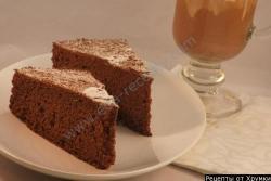 Кулинарный рецепт Генуэзский шоколадный бисквит с фото