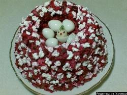 Салат Ласточкино гнездо рецепт приготовления