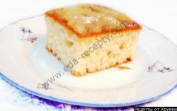Пушистый пирог с грушей
