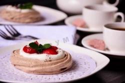 Кулинарный рецепт Шоколадная Павлова с фото