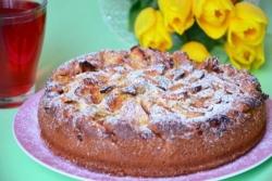 Яблочный пирог на йогурте