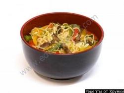 Кулинарный рецепт Суп с говядиной и лапшой с фото