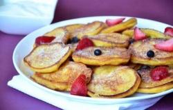 Оладьи с тыквенным пюре и яблоками