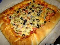 Кулинарный рецепт Пицца с фото
