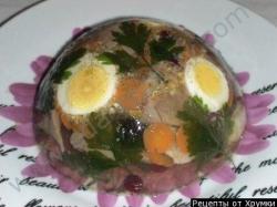 Кулинарный рецепт Заливное из говяжьего языка. с фото