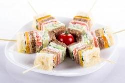 Кулинарный рецепт Многослойные канапе с фото