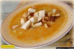 Рецепт Суп гороховый с копчеными ребрышками и костном бульоне с фото