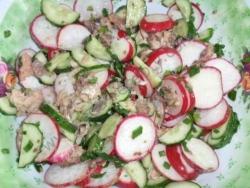 Вареная рыба салат
