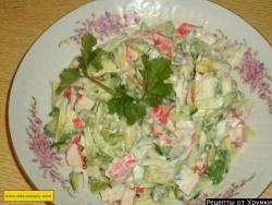 Салат авокадо крабовые палочки лимон майонез