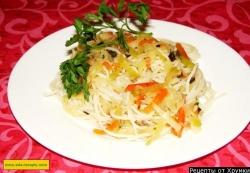 Как приготовить Китайский салат с фунчозой и редькой рецепт с фото