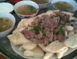 Рецепт Суп из бараньих кишок с гороховым хинкалом с фото