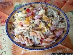 Макаронный салат рецепт приготовления
