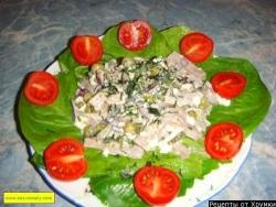Салат из языка говяжьего