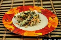 Салат гавайская овощная смесь с кальмарами