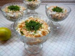Салат из печени минтая