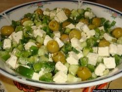 Зелёный греческий салат