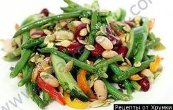 Кулинарный рецепт Салат из фасоли консервированной с фото