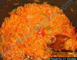 Кулинарный рецепт Лечо из помидор с фото