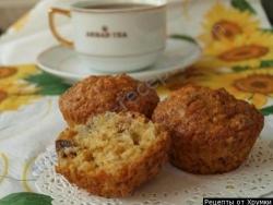 Кулинарный рецепт Тыквенные кексы с сухофруктами с фото