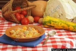 Овощное рагу на утином жиру