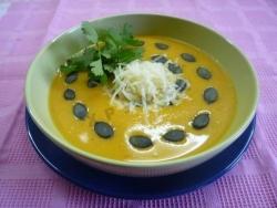 Кулинарный рецепт Суп-пюре из тыквы с фото