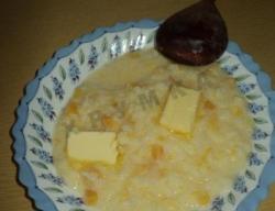Рецепт Тыквенная гарбузовая каша с рисом на молоке с фото